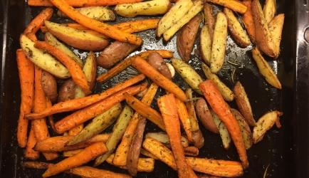 Geroosterde wortel met kruiden uit de oven recept