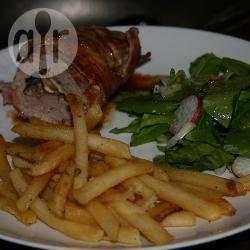Varkenshaas met champignons en radijssalade recept
