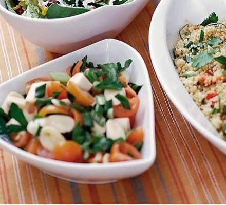 Palmharten en tomatensalade recept