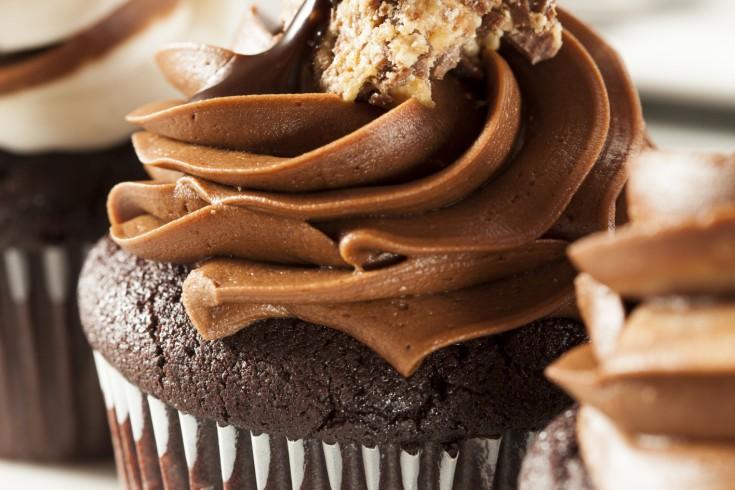 Hele sjieke cupcakes met chocolade ganache