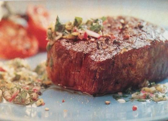 Hollandse biefstuk van de grill met chimichurri recept
