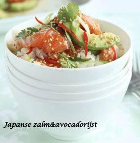 Japanse Zalm Avocado Rijst