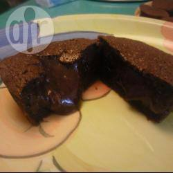 Chocolade cake met vloeibaar hart recept