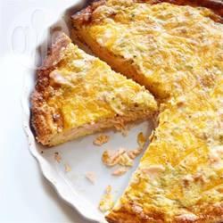 Quiche met zalm en kaas recept