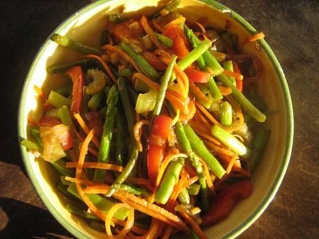 Thaise geroerbakte groenten recept