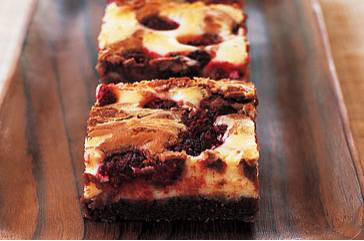 Brownie-frambozen cheesecake recept