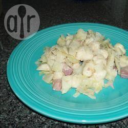Gnocchi met witte kool en ham recept