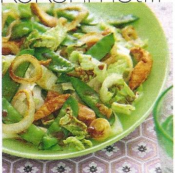 Zoete kip met peultjes uit de wok recept