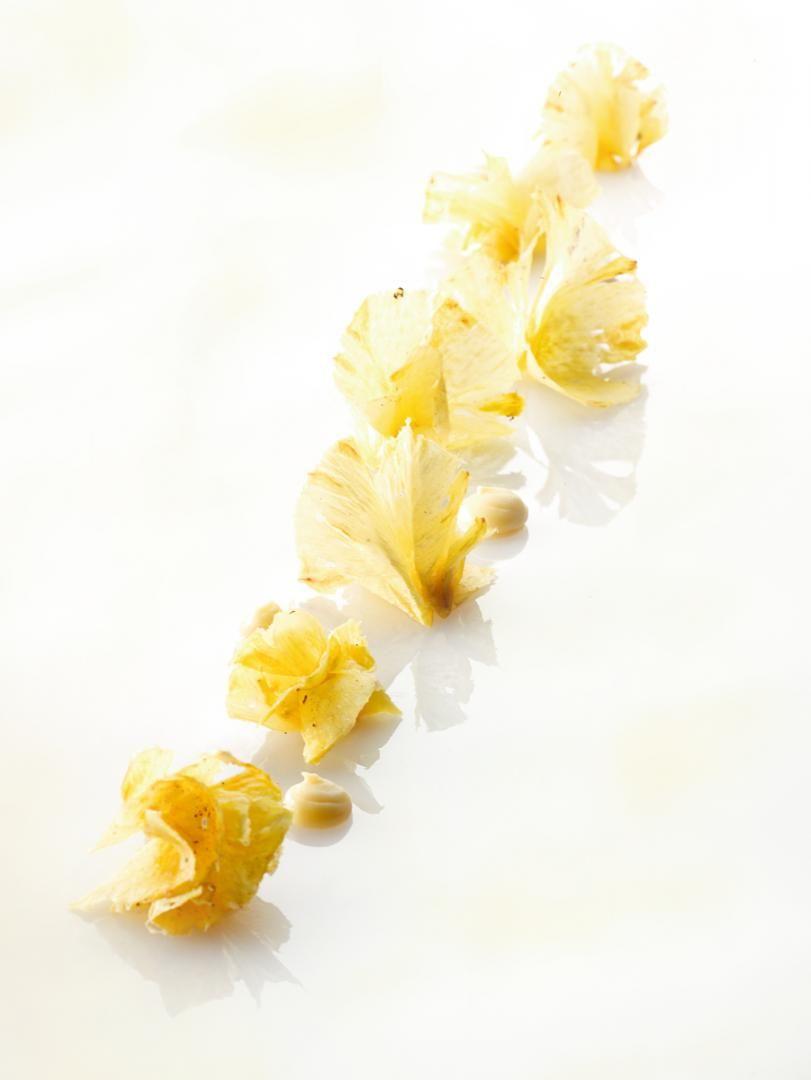 Recept 'ananascarpaccio met crémeux van ananas'