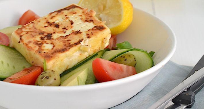 Salade met gebakken feta
