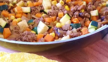 Mexicaanse taco's met pittig gekruid gehakt recept