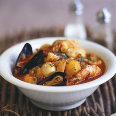 Recept 'stoofpotje met zeevruchten/ schaaldieren/ schelpdieren ...