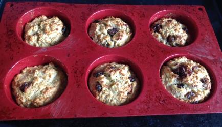 Havermout muffin met cranberries (glutenvrij) recept