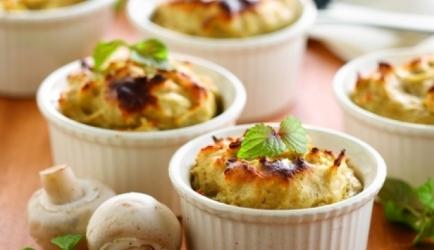 Soufflé van aardappelen en champignons recept