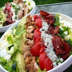 'cobb salad' met blauwe kaas recept