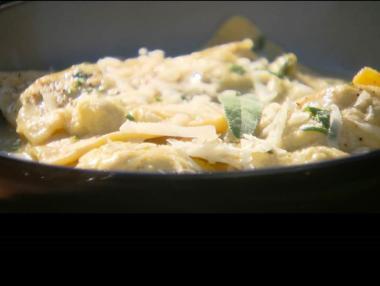 Recept 'ravioli van spelt, gevuld met cipolla di certaldo'