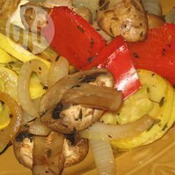 Gerookte groenten van de barbecue recept