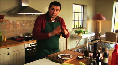 Recept 'lasagne aubergine met langoustinerolletjes'