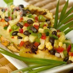 Tropische ananas en zwarte bonen salsa recept