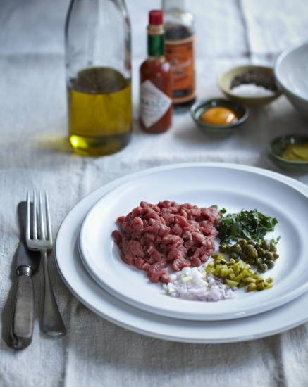 Steak tartare á la flo recept