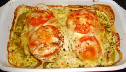 Pesto kip met ham en kaas uit oven recept