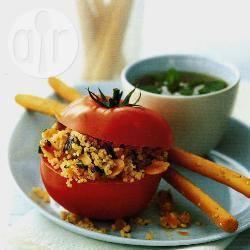 Met couscous gevulde tomaten recept