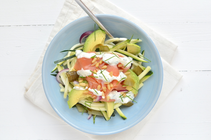 Fresh & easy: courgetti met zalm
