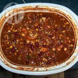Vegetarische chili uit de slowcooker recept