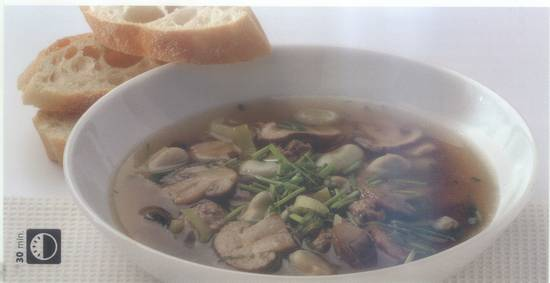 Heldere champignonsoep recept