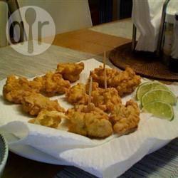 Krokante beignets met karkó (zeevrucht) recept