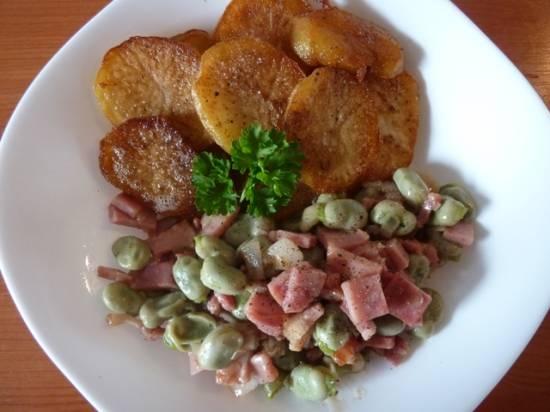 Tuinbonen met ham spek en sjalotjes recept