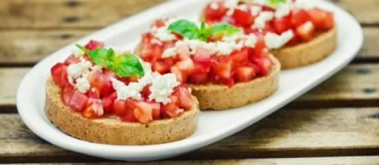 Tapas :geroosterd brood met tomaten recept