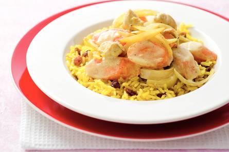 Curry van kip en wortel