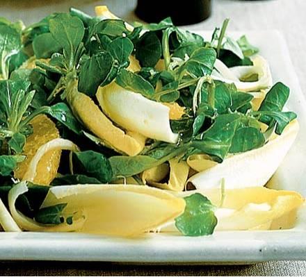 Witlof sinaasappel salade met een gember dressing recept ...