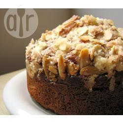Rabarbercake met amandel recept