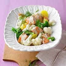Groentenragout met zalm recept