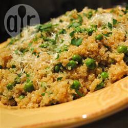 Quinoa met erwten recept