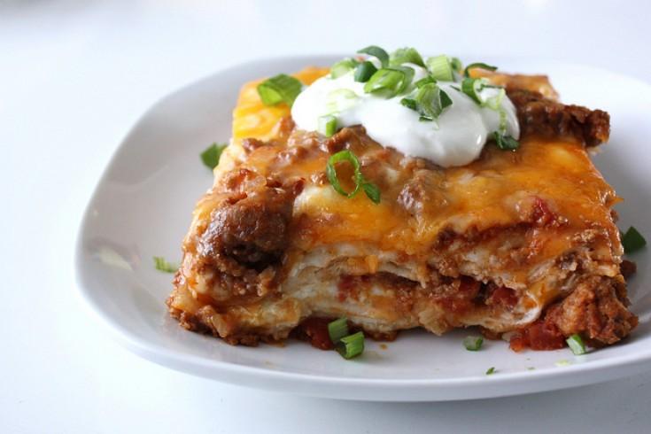 Mexicaanse lasagne met tortillas