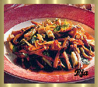 Tofu met pikante groenten in rijstazijn recept