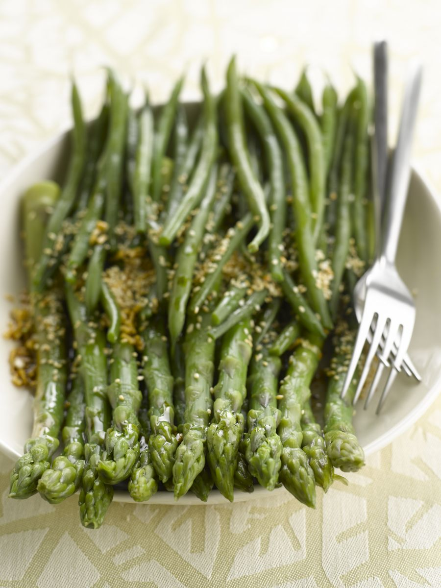 Recept 'asperges met groene boontjes'