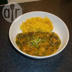 Ben's lam en spinazie curry recept