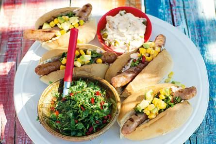 Spicy latin hotdog