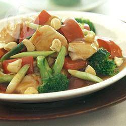 Roergebakken kip met cashewnoten recept