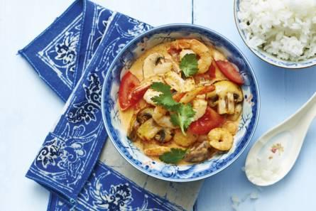 Thaise garnalencurry met tomaat
