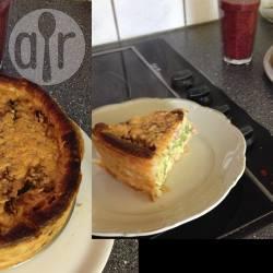 Hartige taart met prei, broccoli en champignons recept