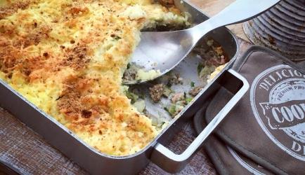 Ovenschotel andijvie met kerriegehakt, smullen! recept
