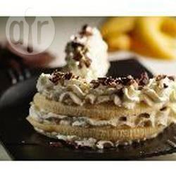 Bananencarpaccio met stracciatellaroom recept