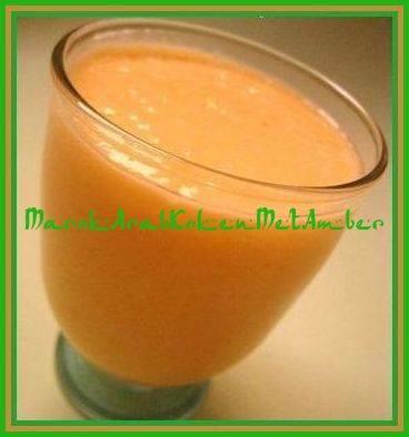 Banaan/mangosmoothie recept