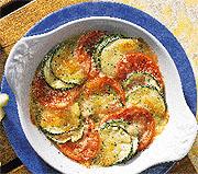 Gratin van courgettes en tomaten recept