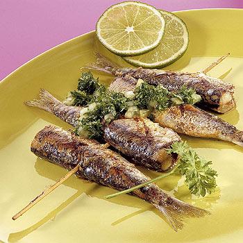 Sardines van de barbeque recept